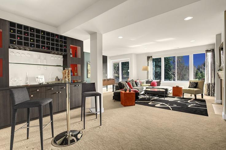 Daylight Basement Media Room Home Pinterest