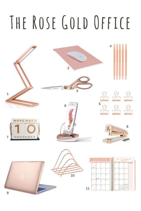feminine office accessories. rose gold desk accessories scissors stapler pens feminine office s
