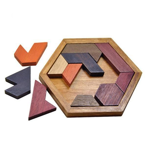 Geometric Wooden Puzzle Toy for Kids