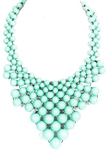 Beaded Bib Necklace - MintMint Bibs, Beads Necklaces, Clothing, Magic Mint, Mint Colours, Beads Bibs, Mint Necklaces, Bib Necklaces, Bibs Necklaces