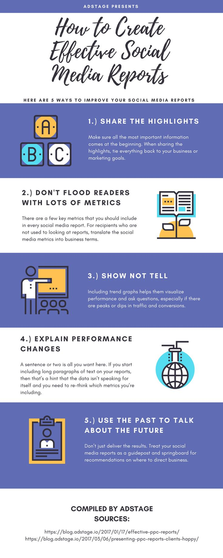 How to Create Effective Social Media Reports [Infographic] - with the increasing use of social media in content and digital marketing, compile and present your data cleanly with these tips!