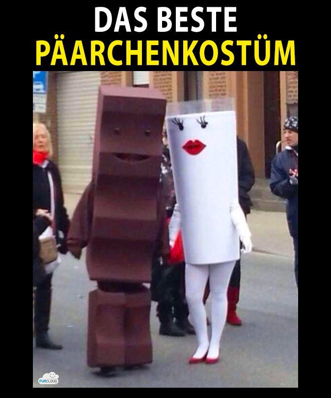 Mit Abstand das beste Pärchenkostüm #Pärchen #Kostüm #genial #lustig #Kinderschokolade #süß #niedlich #witzig