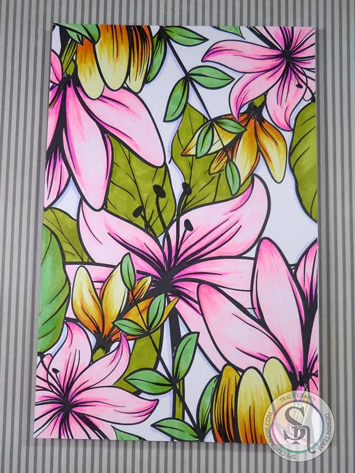 Designed By Tracy Spectrumnoircolorista Adultcolouring Adultcoloring Alcohol MarkersCopic