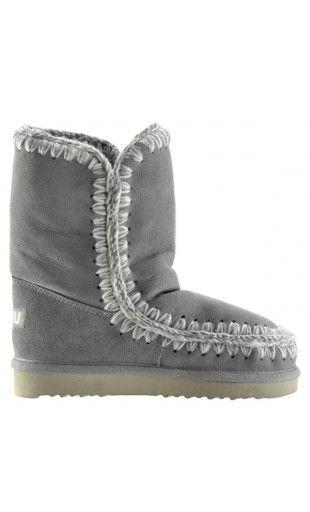 Mou Eskimo Short Boots Women New Grey #MOUBOOTS moubootssale.com