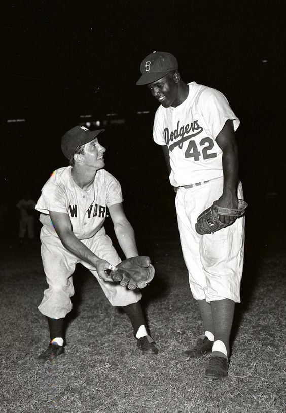 Billy Martin and Jackie Robinson