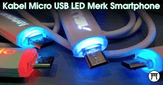 Takekimurah: Kabel Micro USB LED Merk Smartphone