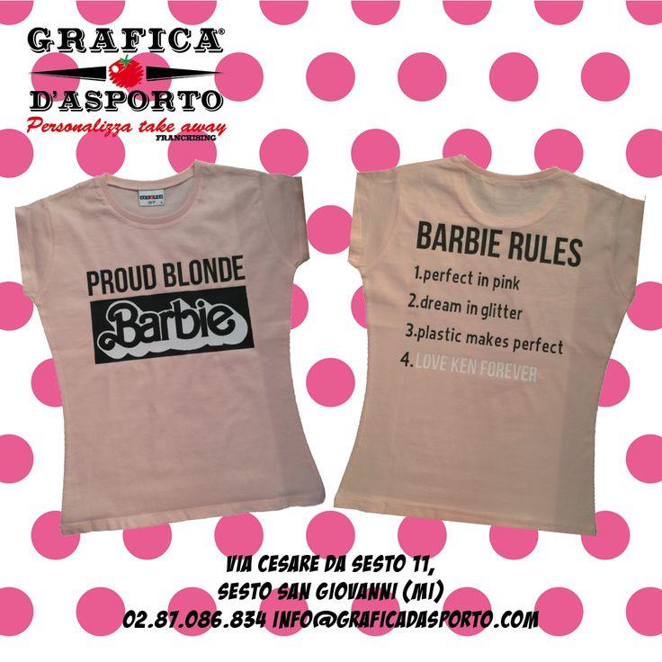 #T-shirt #barbie #barbie #magliette #rosa #pink #graficad'asporto