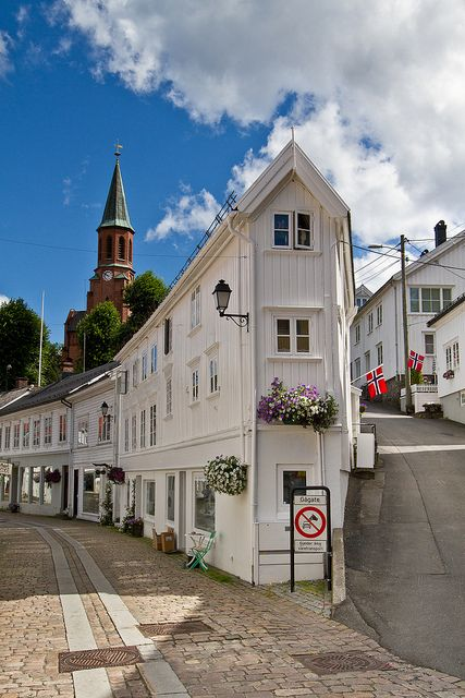 """NORWAY - TVEDESTRAND  - """"Strykejernet""""  - Locally it is called Strykejernet, the Norwegian name for iron or flatiron.  I can't seem to find when this was built.   (I love this little building!)"""