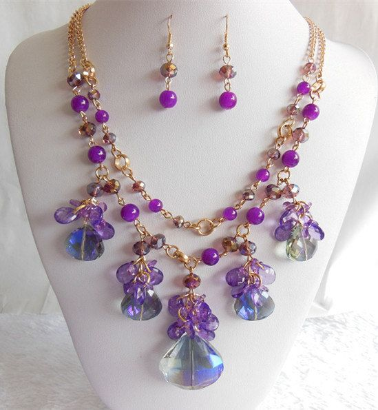 Two Strand Necklace, Statement Necklace ,2014 New Fashion Necklace,Drop Necklace,Jewelry Set