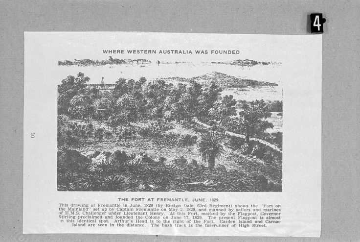 The fort at Fremantle, 1829. Where Western Australia was founded.