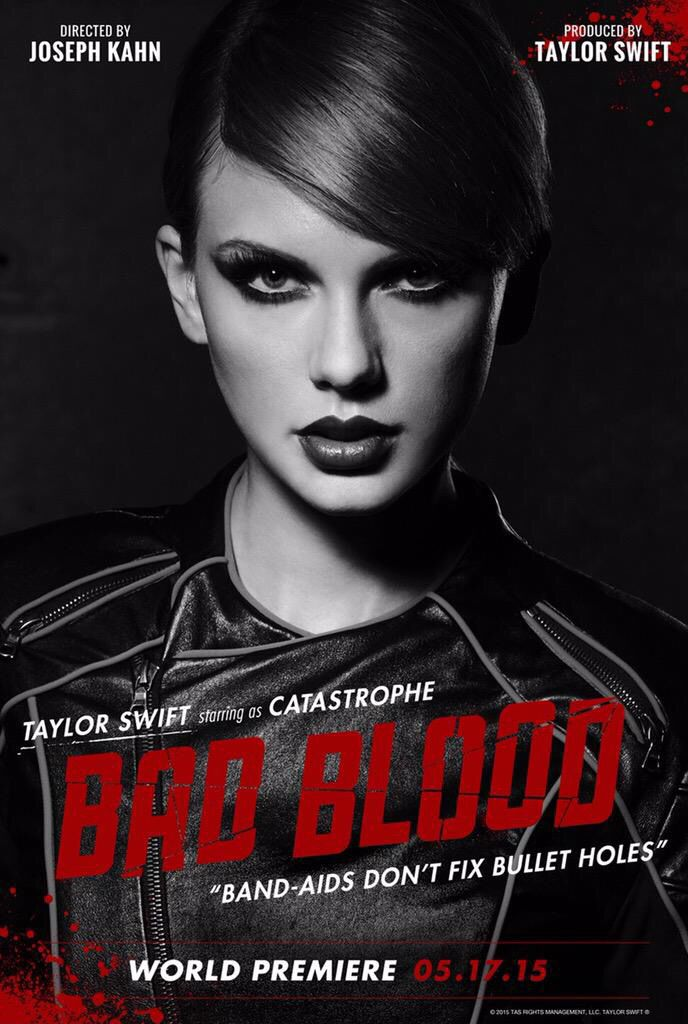 Taylor Swift staring as Catastrophe in Taylor Swift's new music video Bad Blood may 2015