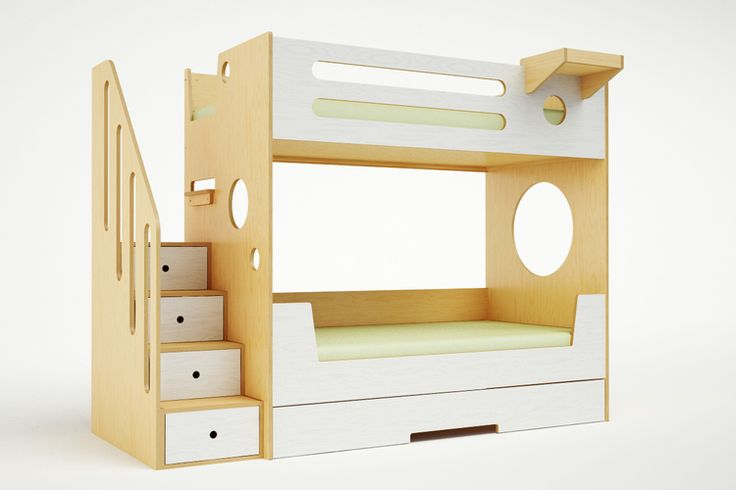 Casa Kids bunkbed with stairs