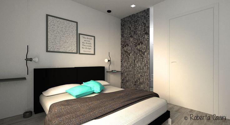 Progetto bilocale per uomo single - Camera da letto (c)Roberta Casini