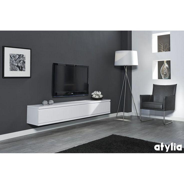 Meuble TV design suspendu Flow ATYLIA Déco maison