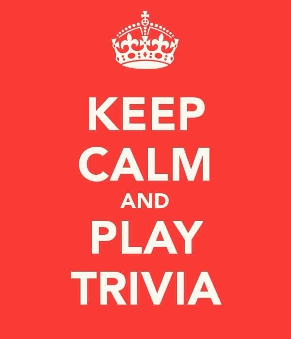 Trivia night tonight! 8:30pm. See you there.