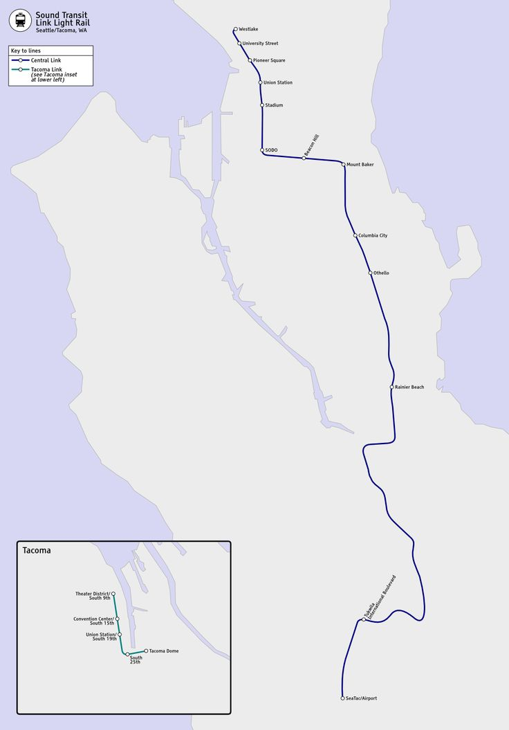 Les rails de lumière de Seattle et Tacoma sont en fait un tramway circulant dans la ville, sur une plate-forme et des rails de qualité, complètement séparés de la circulation automobile. #seattle #metro