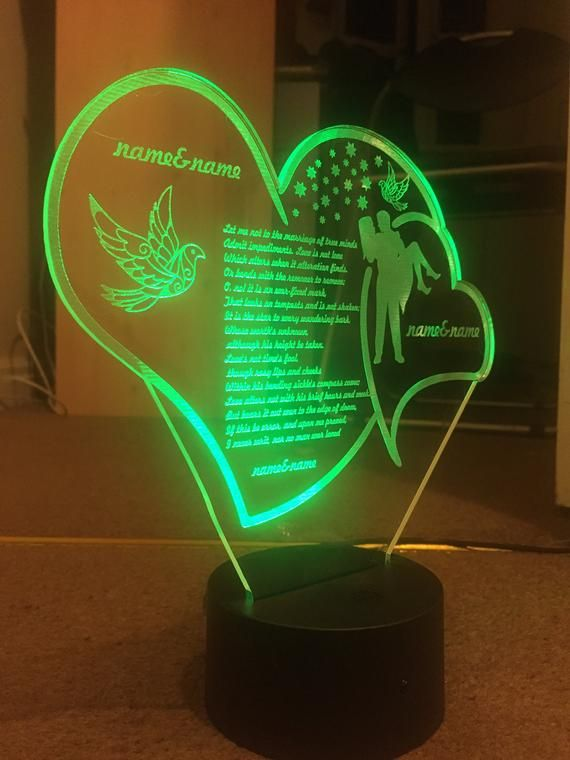 All Occasion Gift Personalized 3d Illusion 7 Colors Changing Led Lamps With Remote Controller Customlamp Birthda 3d Led Lamp Color Changing Led 3d Led Light