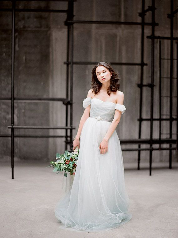 Hey, I found this really awesome Etsy listing at https://www.etsy.com/listing/225204458/arsenia-grey-tulle-wedding-dress-low