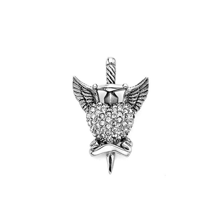 Inox 316L Stainless Steel Pave Gem Coated Heart with Wings Pendant  sc 1 st  Pinterest & Best 25+ Inox 316l ideas on Pinterest | Fogão a lenha portátil ... azcodes.com