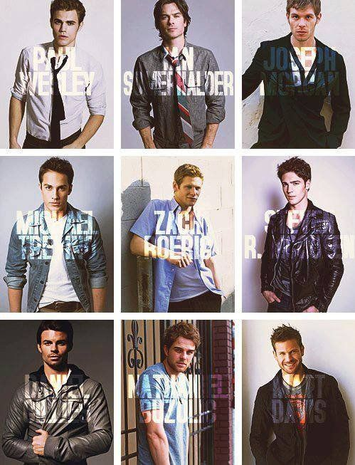 So much beauty in one picture!! My favorites are Ian Somerhalder, and Nathaniel Buzolic!!