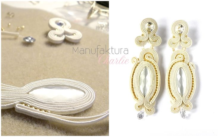 long soutache earrings, hand made by Manufaktura Charlie