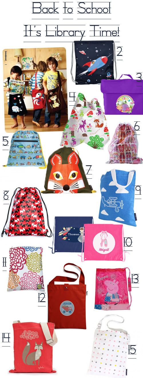 KidStyleFile Roundup: Best Kids School Library Bags and Kids Swim Bags