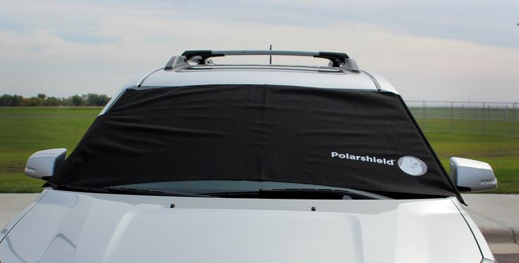 Delk Polarshield Winter Snow Car Wind Proof Windshield Cover w/ Security Panels