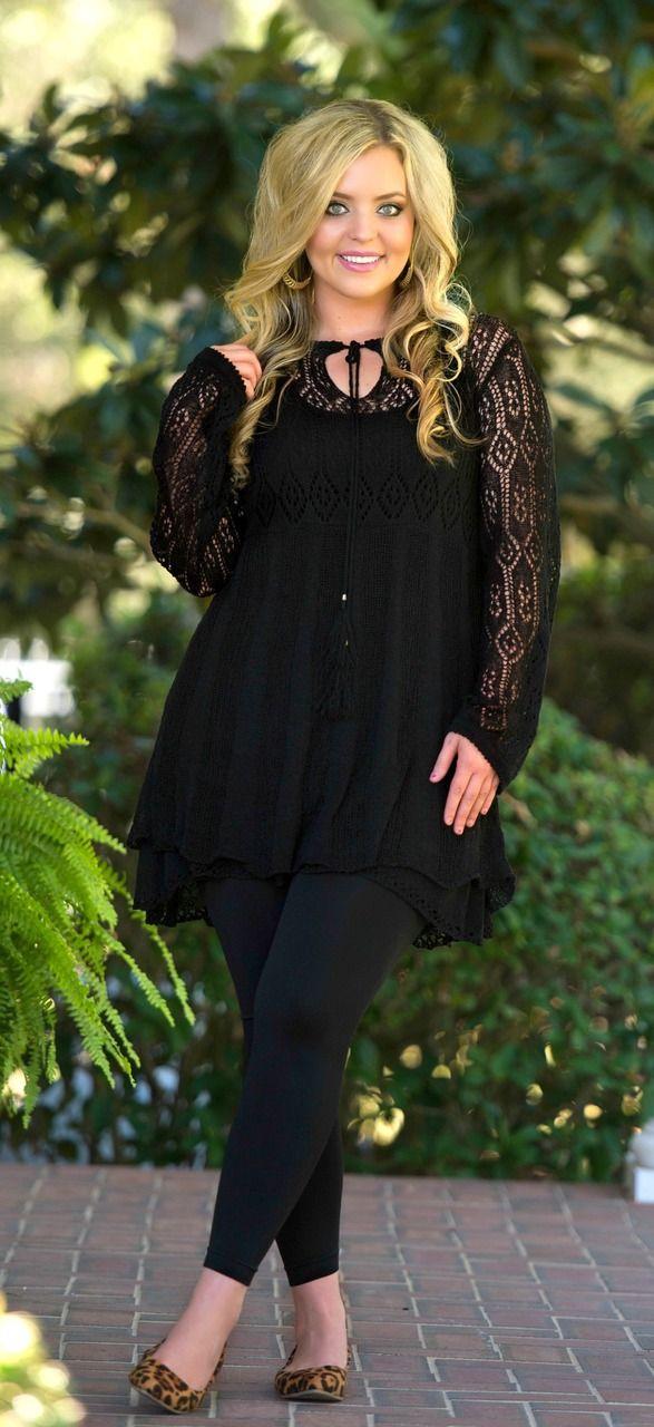 Black dress black leggings plus size