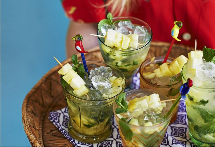 Though traditionally made with limes, the national cocktail of Brazil can also be made with pineapple or passion fruit.