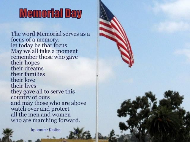 memorial day poem freedom isn't free