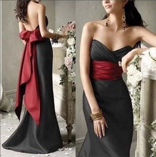 2014 New Fashion Sexy Black Wedding dress Customize 6-8-10-12-14-16 + + US $108.00