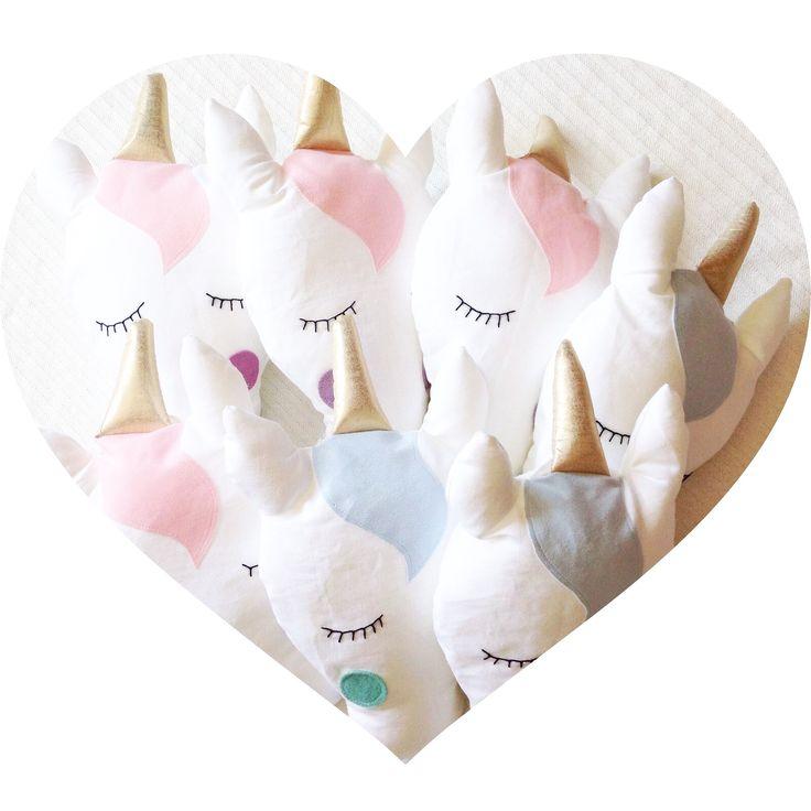 Pillow nursery baby fabric unicorn