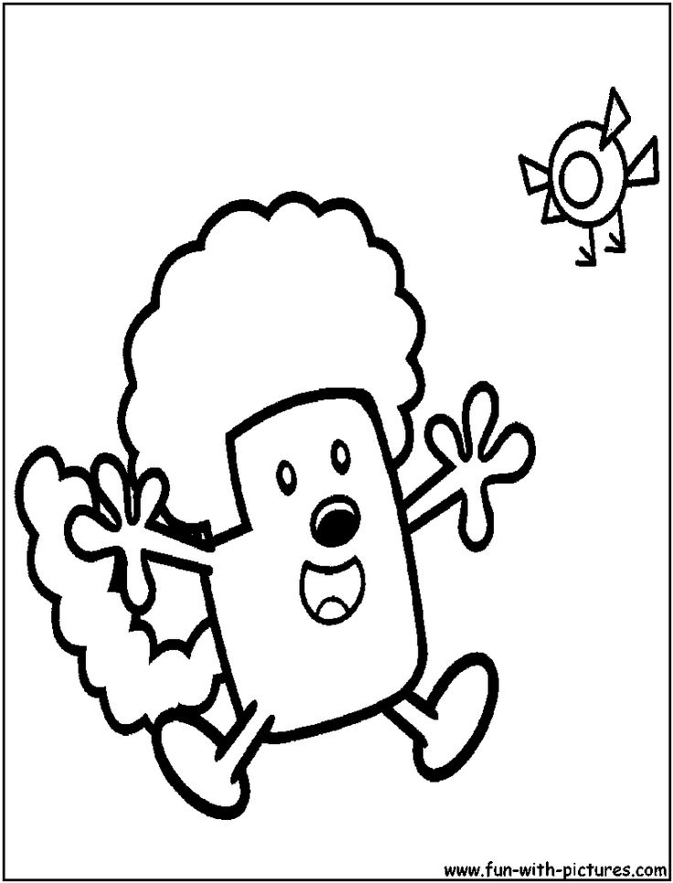 wa wa wubbzy coloring pages - photo #32