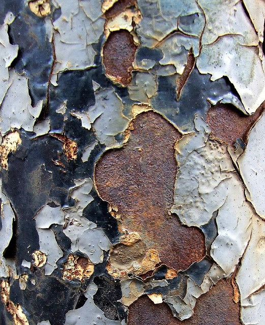 Peeling paint and rust by Tina Negus - All Rights Reserved