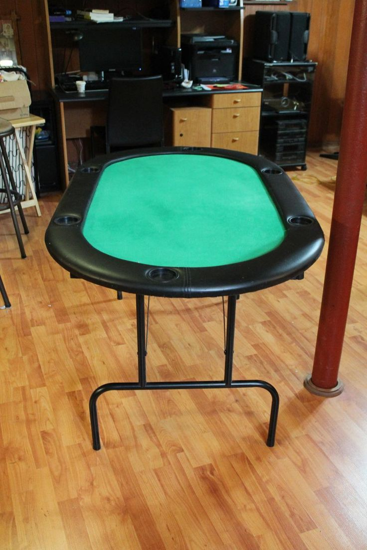 For Sale: Poker Table   Poker Table With Folding Legs. Green Felt Surface.