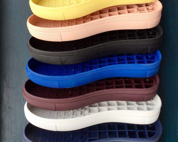 Schuhsohlen. TR flexibel, Gummischuhe von Haut, Filz und gestrickt, Größe, 36(5),37(6),38(6,5), 39(7,5), 40(8), 41(9)