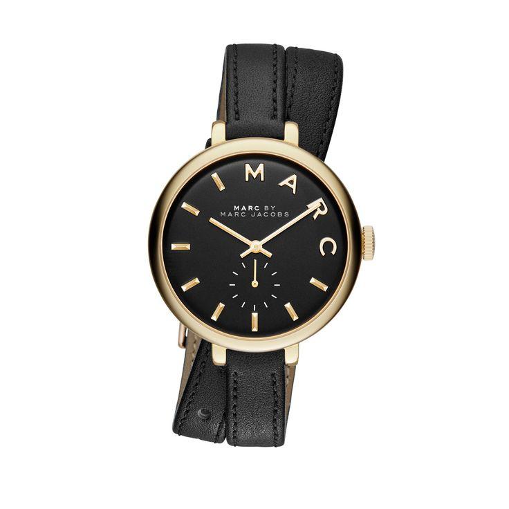 Marc Jacobs Sally Rosé Gold Leather Watch Black Uhren bei Fashionette