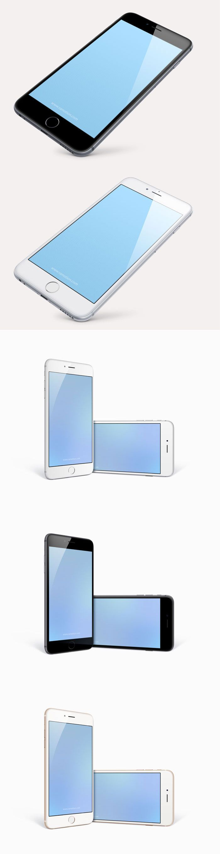 Free PSD: iPhone 6 Plus - 5,5 inch Templates by Ramotion