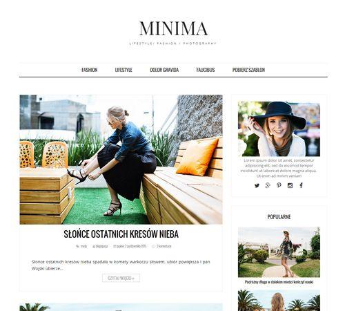 Szablon Blogspot, Blogger: Minima