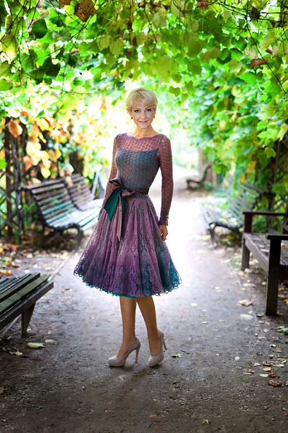Hand knitted festive dress by Knitwear0and0lace on Etsy, $600.00