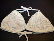 Crochet Geek : Crochet Bikini Top - Triangle Shape Motif