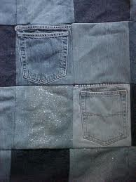 cool: Jeans Quilts, Crafts Ideas, Sewing Projects, Cute Ideas, Pockets Quilts, Denim Quilts, Denim Pockets, Quilts Ideas, Old Jeans