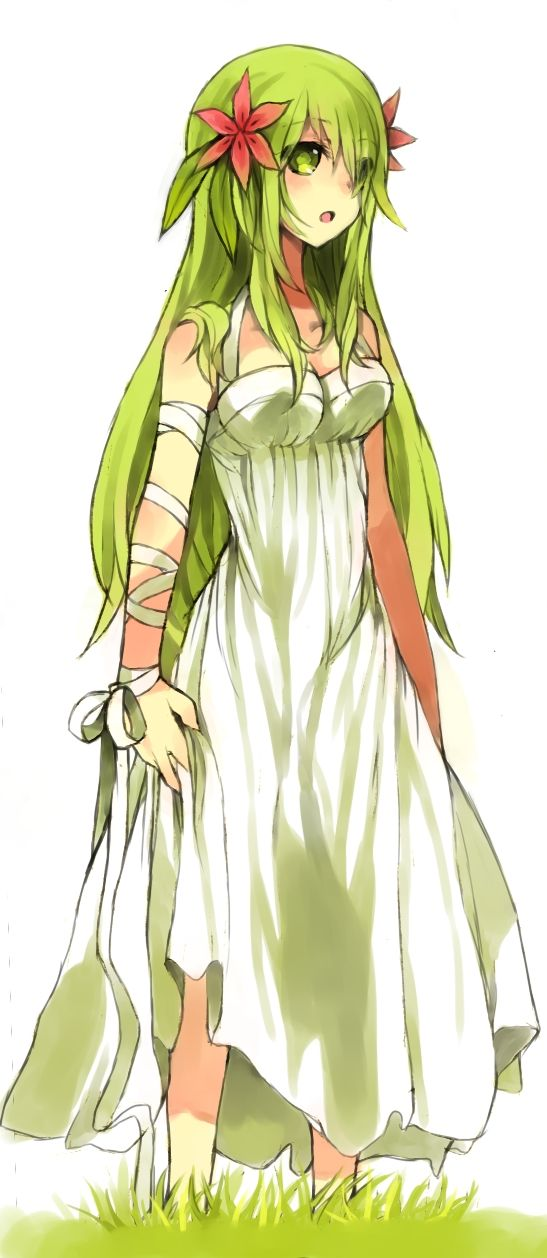 Human Shaymin! So pretty :) her hair is how I visioned Gerbera's hair