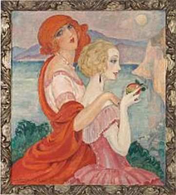 On the road to Anacapri - Gerda Wegener (1885-1940)