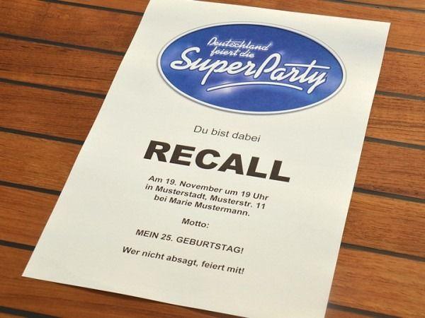 Deutschland Feiert Die Super Party Einladung