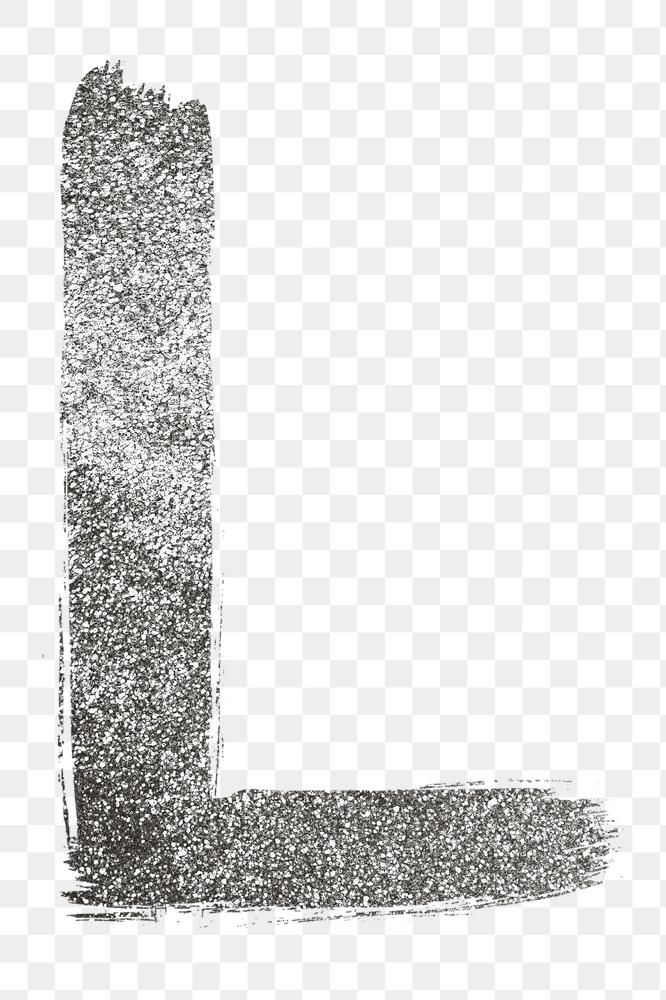 Letter L Png Silver Glitter Brushed Typography Free Image By Rawpixel Com Hein Typography Silver Glitter Lettering