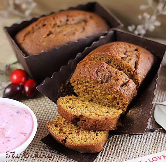Mini brown loaf pans are just the right size for making mini pumpkin bread to hand out this fall!