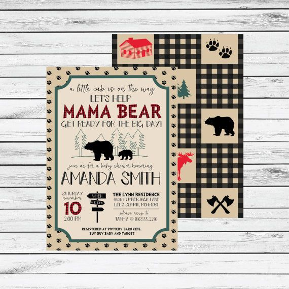Lumber Jack Baby Shower Invitations by ConfettiPartyCompany