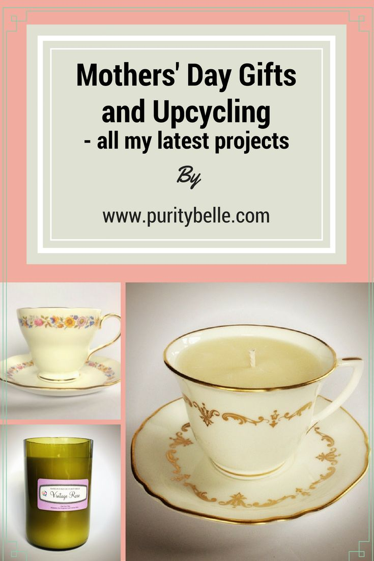 Lots of Upcycling has been going on and creating some nice gift ideas for Mothers' Day.