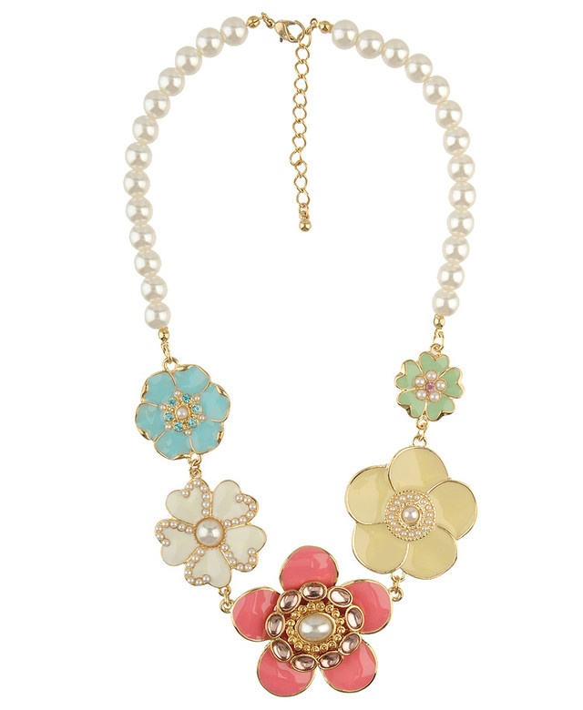 Flower & Pearl: Style Flowers, Flowers Patterns, Flowers Jewerly, Flowers Necklaces